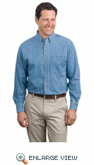 Port Authority - Long Sleeve Denim Shirt. S600