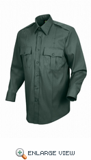 HS1544a Men's Spruce Green Sentry® Plus Long Sleeve Shirt With Zipper