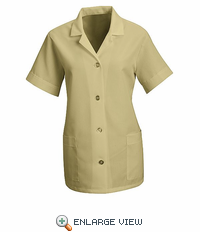 TP23TN Women's Tan Short Sleeve Smock