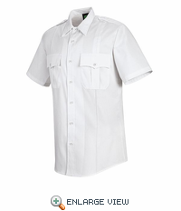HS1249 Men's White Sentry® Plus Short Sleeve Shirt With Zipper