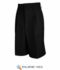 PT35BK Women's Black Pleated Shorts - Discontinued