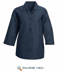 TP31NV Women's Navy Loose 3/4  Sleeve Smock