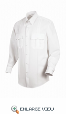 HS1149 Men's White Sentry® Plus Long Sleeve Shirt With Zipper