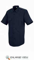 HS1250 Men's Dark Navy Sentry® Plus Short Sleeve Shirt With Zipper