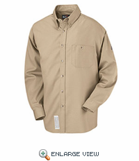 SEG6KH Excel-FR™ Khaki Button Dress Uniform Shirt