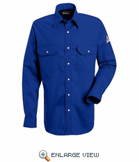 SES2RB Excel-FR™ Royal Blue Snap Front Deluxe Shirt