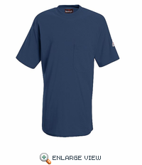 SET8NV Flame-Resistant EXCEL- FR™ Short Sleeve Navy T-Shirt