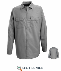 SEW2SY Excel-FR™ Silver Grey Flame Resistant Button Front Work Shirt