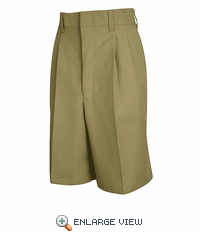 PT35KH Women's Khaki Pleated Shorts - Discontinued