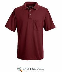 SK02BR Burgundy Performance Knit Polyester Pique Polo Shirt