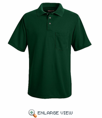 SK02HG Hunter Green Performance Knit Polyester Pique Polo Shirt
