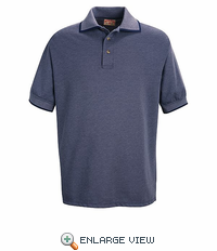 SK96NV Navy/Bluegrass Men's Twill Knit Polo - Discontinued