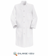 5210WH Women's White Lab Coat 5 Button Closure