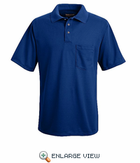 SK02RB Royal Blue Performance Knit Polyester Pique Polo Shirt