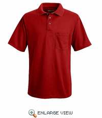 SK02RD Red Performance Knit Polyester Pique Polo Shirt