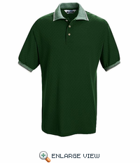 SK78HG Short Sleeve Hunter Green Box Pattern Knit Shirt - Without Pocket - Discontinued