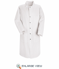 KT50WH White Full Cut Butcher Coat