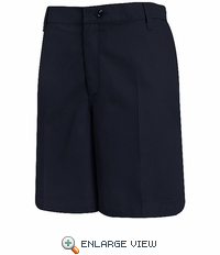PT27NV Women's Navy Plain Front Shorts