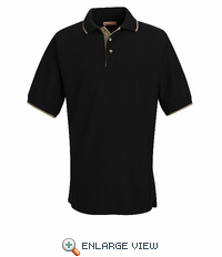SK48BK Black/Khaki Herringbone Knit Tipped Trim Shirt - Discontinued