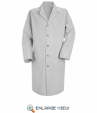 KP14GY Men's Light Grey Red Kap Lab Coat