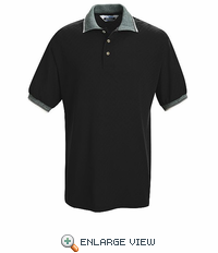 SK78BK Short Sleeve Black Box Pattern Knit Shirt - Without Pocket - Discontinued