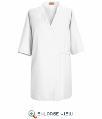 WP18WH White Collarless Pocketless Butcher Wrap