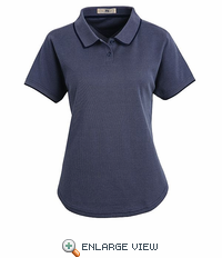 SK95NV Navy/Bluegrass Ladies' Twill Knit Polo - Discontinued