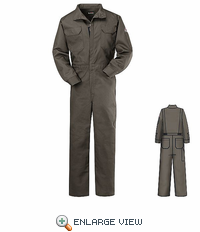 CEB2GY Flame Resistant EXCEL- FR Medium Grey Deluxe Coverall