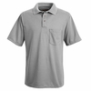 SK02AH Ash Performance Knit Polyester Pique Polo Shirt