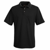 SK02BK Black Performance Knit Polyester Pique Polo Shirt