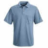 SK02MB Medium Blue Performance Knit Polyester Pique Polo Shirt