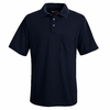 SK02NV Navy Performance Knit Polyester Pique Polo Shirt