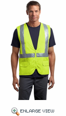 CornerStone® - ANSI Class 2 Mesh Back Safety Vest. CSV405