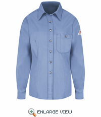 SEG5LBB Excel-FR™  Women's Light Blue Button Dress Uniform Shirt