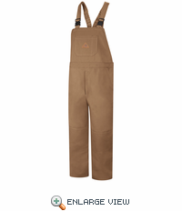 BLF8BD EXCEL- FR™ COMFORTOUCH™ Brown Duck Unlined Bib Overall