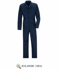 CT10NV Big & Tall Navy Twill Action Back Coveralls
