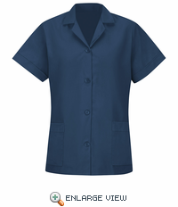 TP23NV Women's Navy Short Sleeve Smock
