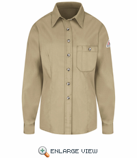 SEG5KHB Excel-FR™  Women's Khaki Button Dress Uniform Shirt