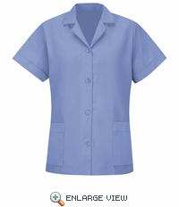 TP23LB Women's Light Blue Short Sleeve Smock