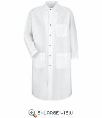 KS58WHA  100% Polyester - White Full Cut Butcher Coat