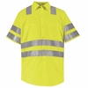 SS24AB Hi-Visibility Short Sleeve Fluoresent Yellow/Green Work Shirt Class3 Level 2