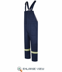 BLCTNV  EXCEL FR® ComforTouch® Navy Deluxe Insulated Bib Overall with Reflective Trim