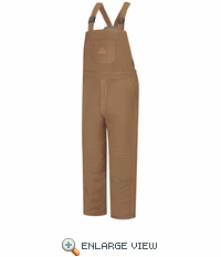 BLN4BD EXCEL- FR™ COMFORTOUCH™ Brown Duck  Deluxe Insulated Bib Overall