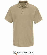 SMP8KH Classic Khaki Short Sleeve Polo - CoolTouch®2