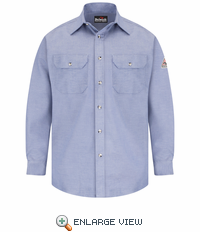 SLU6CY EXCEL- FR™ COMFORTOUCH™ Chambray Dress Uniform Shirt