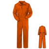 CNB6OR NOMEX® IIIA 6oz Orange Deluxe Coverall - STOCKED IN CANADA