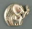 Mother Daughter Elephant Pin