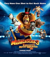 Arabic cartoon dvd MADAGASCAR 3 Europe's Most Wanted   the latest one very funny proper arabic