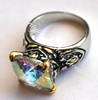 Rainbow Ice Aurora Borealis Cz Heavens Throne Room Ring