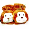 Kids Boys Girls Ladies Fingerless Knit Gloves Flip Top Plush Animals